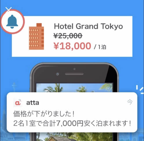 旅行アプリ「atta」の口コミ